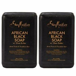 2 Bars of SHEAMOISTURE African Black Soap Bar Soap